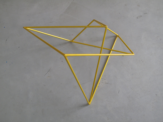 ROBERT OWEN     Metallic Yellow  2009 Painted Stainless Steel    66 x 60 cm