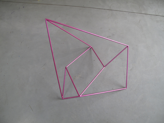 ROBERT OWEN     Metallic Pink  2009 Painted Stainless Steel 70 x 58 cm