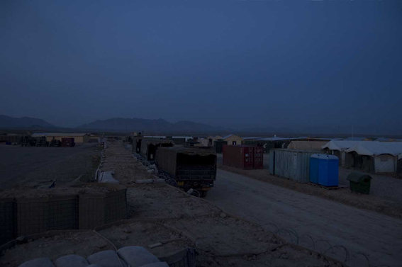 LYNDELL BROWN CHARLES GREEN     Before Dawn, Tarin Kowt Base, Uruzgan Province, Afghanistan  2007-08 Digital colour photographs, inkjet prints on rag paper, unframed 11  1.5 x 15  1.5 cm