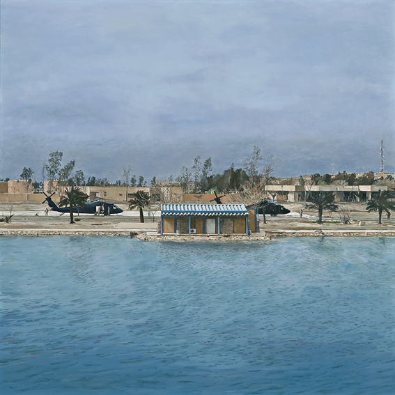 LYNDELL BROWN CHARLES GREEN     Baghdad  2009 Oil on linen 121.9 x 121.9 cm
