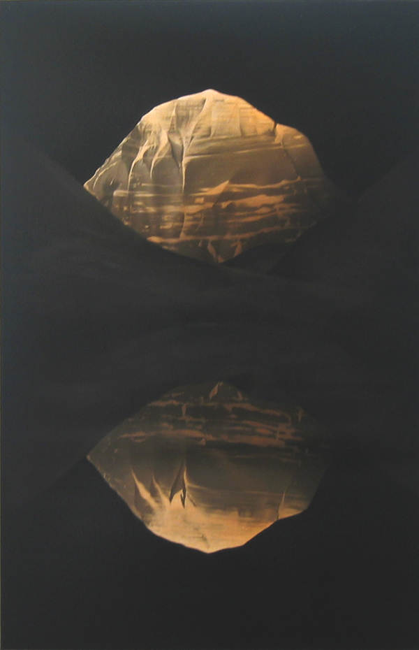 PETER DAVERINGTON     Mt Kailash by Solar Eclipse  2008 Oil and Enamel on Linen   92 x 60 cm