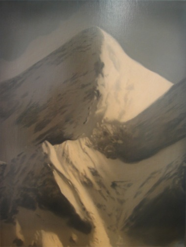 PETER DAVERINGTON    Study for Mount Everest    2008   Oil on linen   56 x 41 cm