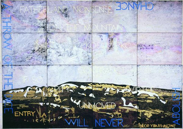 IMANTS TILLERS    Nature Speaks :AQ  2007 acrylic, gouache on 16 canvasboards  143 x 102 cm