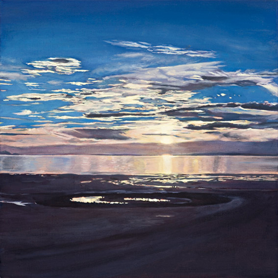 LYNDELL BROWN CHARLES GREEN    Spiral Jetty, Sunset, October 2004  2006 Oil on linen 31 x 31 cm