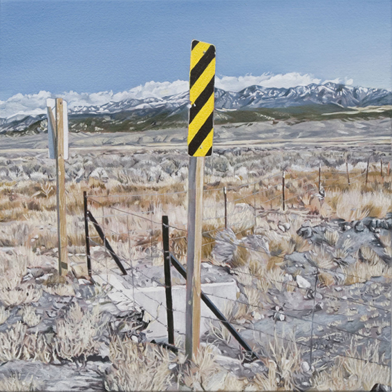 LYNDELL BROWN CHARLES GREEN    Highway 89, Utah, October 2004  2006 Oil on Linen 31 x 31 c