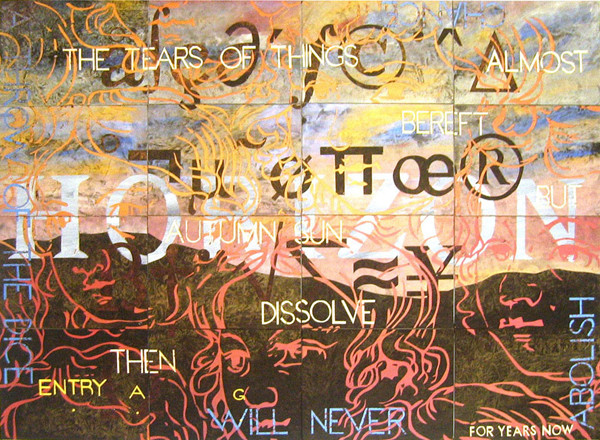 IMANTS TILLERS     NATURE SPEAKS : AG  2007 acrylic, gouache on 16 canvasboards (80613-80628)  101.6 x 142.2 cm