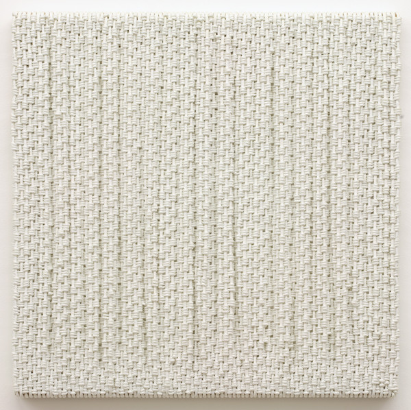 DANI MARTI     Canvas  2007 Polyester / nylon rope/ wood 95 x 95 cm