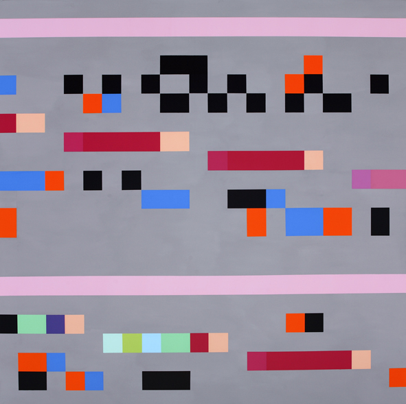 ROBERT OWEN     Study for Mantra #1c  150 x 150 cm Synthetic Polymer Paint on Linen