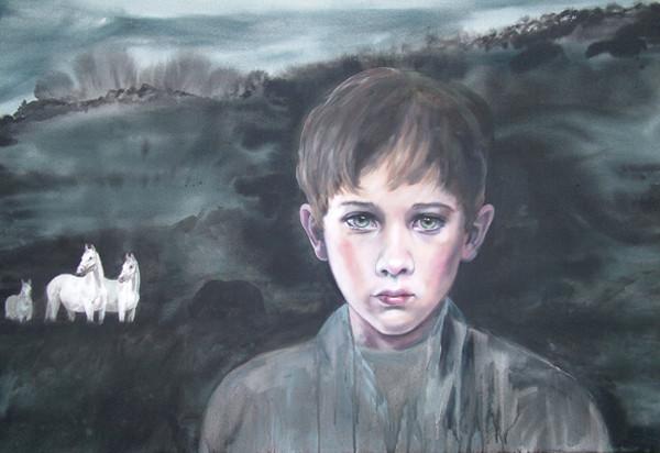 CHERRY HOOD    White Horses  2005/06 180 x 120 cm Oil on Canvas