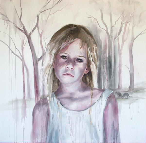 CHERRY HOOD    Child's Play  2006 152 x 152 cm Watercolour on canvas