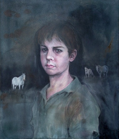 CHERRY HOOD    The Boy Who Loved Horses    2006   80 x 95 cm   Oil on Canvas