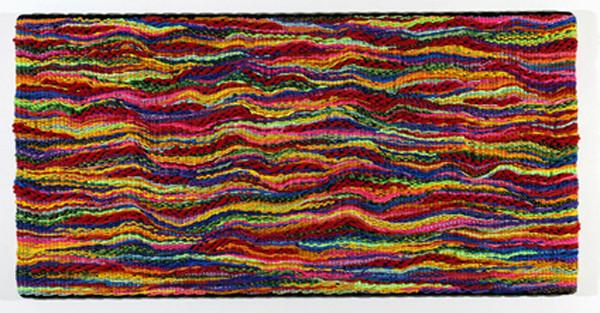 DANI MARTI     Landscape #3  2004 Polypropylene / nylon rope/ wood 150 x 300 cm