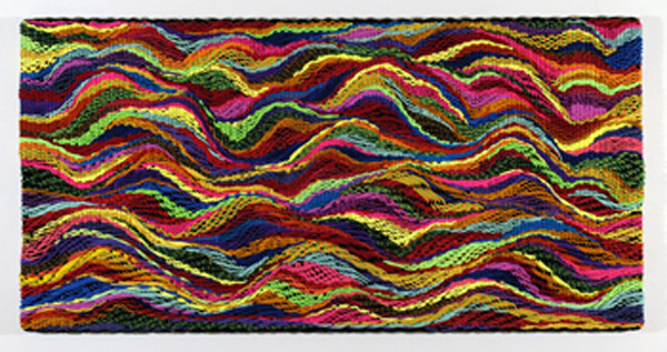 DANI MARTI     Landscape #1  2004 Polypropylene / nylon rope/ wood 150 x 300 cm
