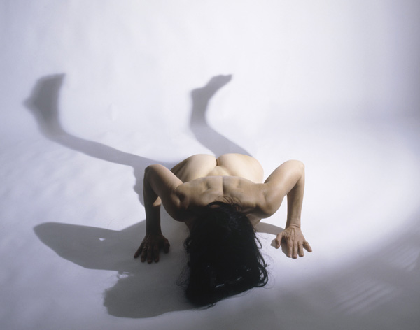 JULIE RRAP     Split body  2004 Pure pigment prints on acid-free rag paper edition of 9 176 x 152 cm