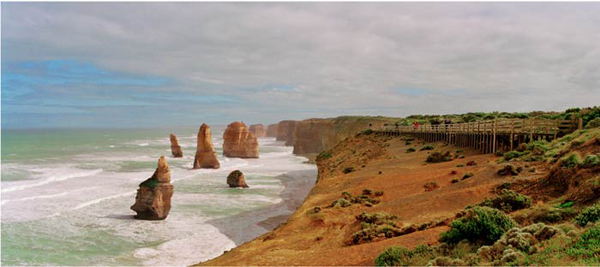 ANNE ZAHALKA     Twelve Apostles, Great Ocean Road, Victoria  2003-04 Light-jet print Type C edition of 6   115 x 260 cm