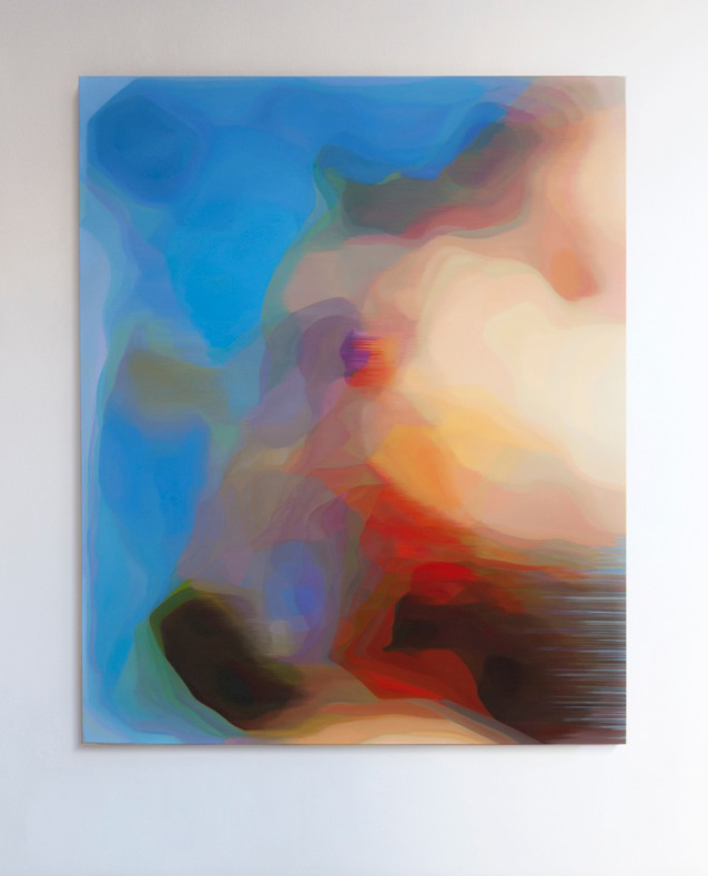 JOHN YOUNG     LKM (Blue)  2015 Oil on linen 156 x 126 cm