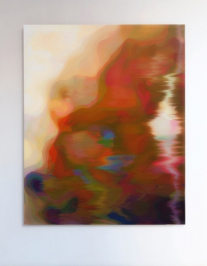 John Young, LKM (Gold), 2015, 156 x 126 cm, Oil on linen