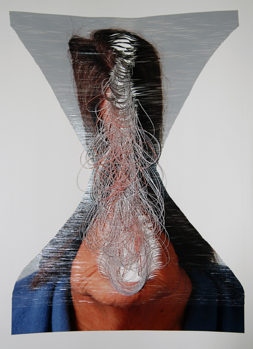 JUSTINE KHAMARA    Looping #1    61 x 72 cm   Hand-cut colour photograph, Perspex box