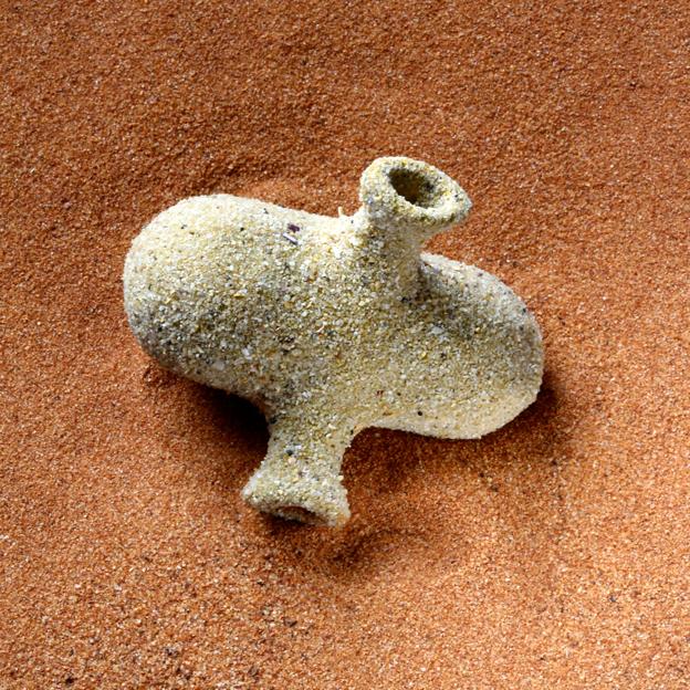 MARIA FERNANDA CARDOSO    Pollen is Male 6    2012 - 2014   4.7 x 5.3 cm   Nylon, glue, desert sand