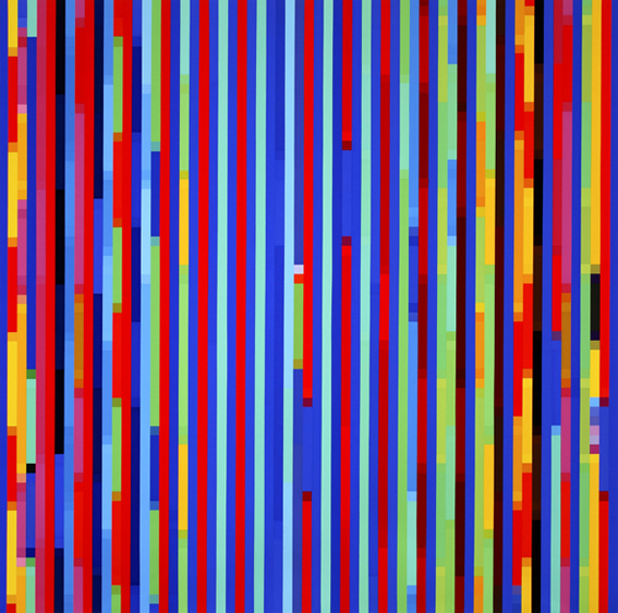 Melatonin Shift #3 , 2005, Synthetic polymer paint on linen 198 x 198 cm