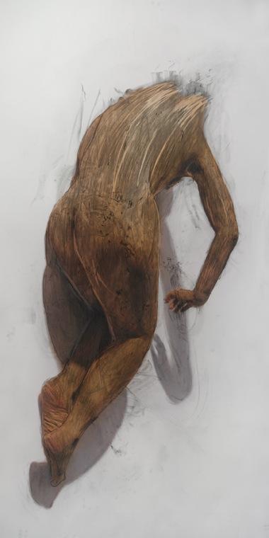 Body Rub 6 , 2006, Archival print on watercolour paper, 199 x 100 cm