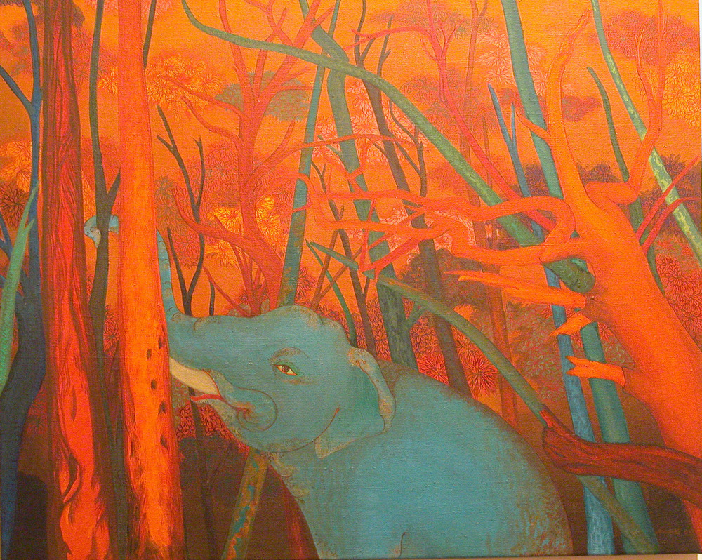 The Elephant in the Bush #8 , 2004, Oil on Canvas, 76 x 91 cm