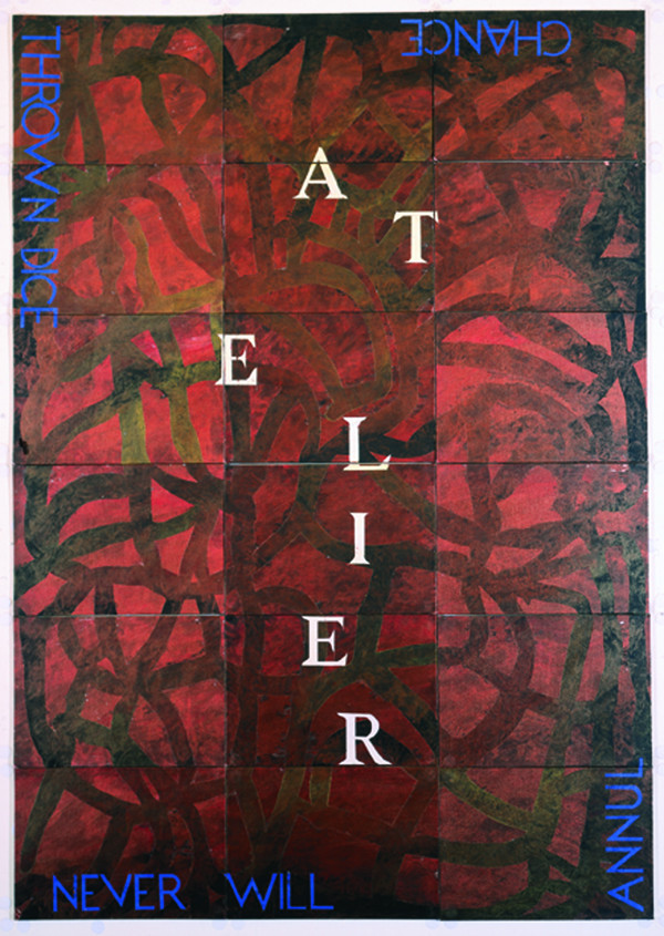 Atelier lll   , 2001, Synthetic polymer paint, gouache on 18 canvas boards, 150 x 106 cm