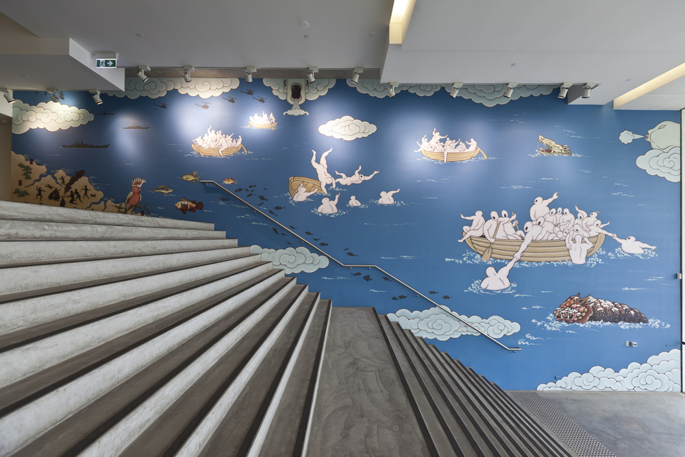 The Journey to Australia  - MCA, Sydney, 2013, Mural