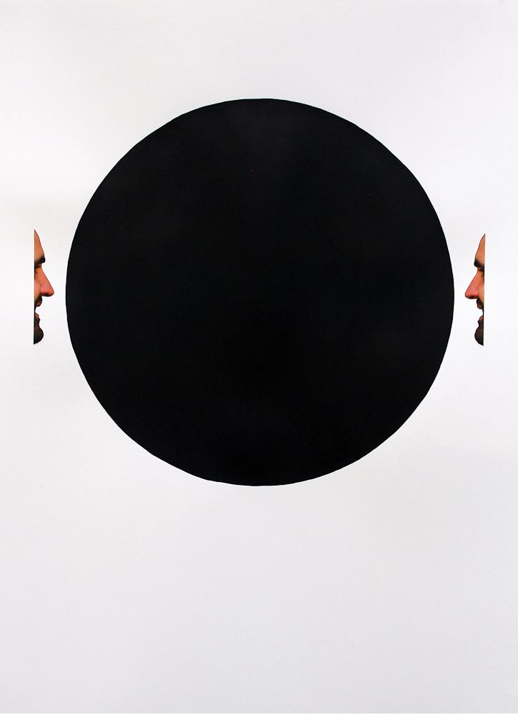 JUSTINE KHAMARA   Untitled  2015 Acrylic paint, colour photograph 75 x 55 cm