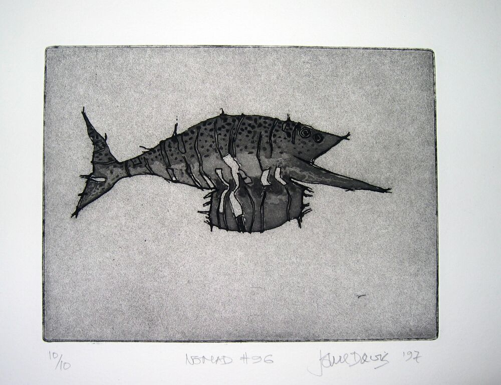 JOHN DAVIS   Nomad #96  1997 etching edition of 10 18 x 27cm