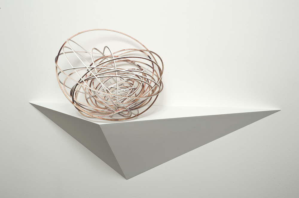 Justine Khamara,   Orbital Spin Trick #2  , 2013, UV print on laser-cut plywood sculpture, 50 x 50 x 50cm.