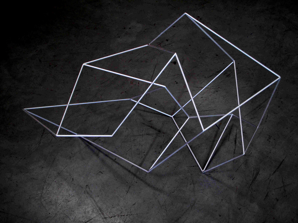 ROBERT OWEN    Third Movement #2  (from the series  Thought Forms ) 2015 Painted stainless steel 83 x 57 x 46 cm