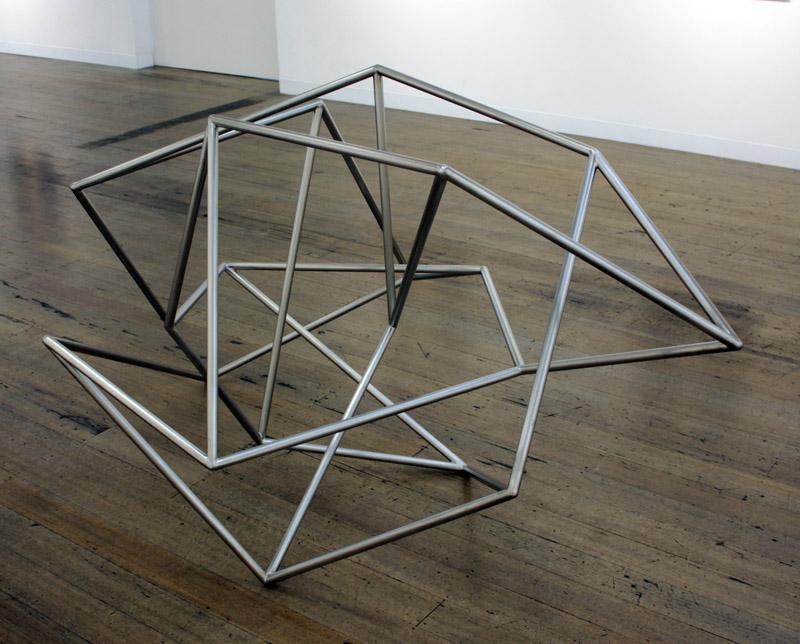 ROBERT OWEN    Fallen Light  2012 Stainless Steel 120 x 120 cm