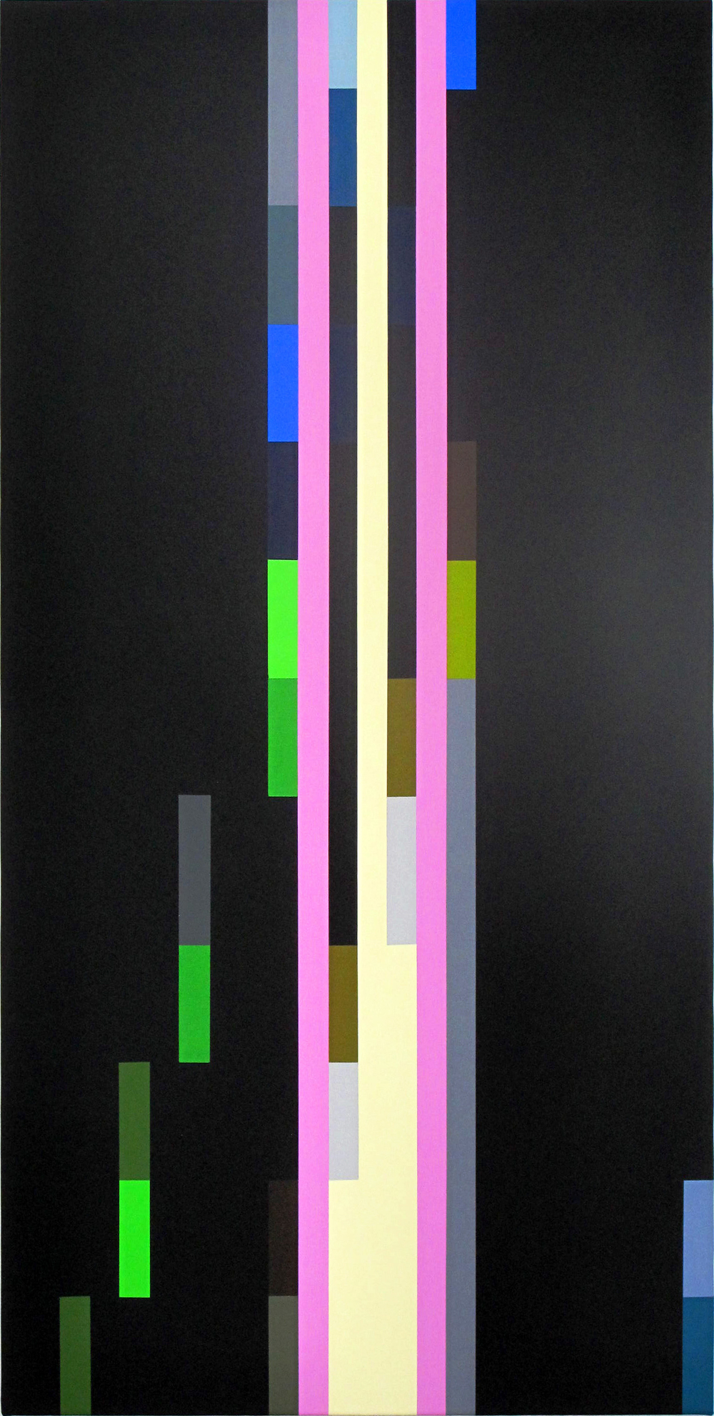ROBERT OWEN    Soundings, (composition #01)  2012 synthetic polymer paint on canvas 625 x 1250 mm