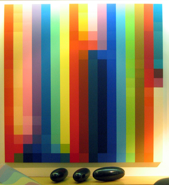 ROBERT OWEN     Spectrum Analysis #10  2005 Synthetic polymer paint on canvas 122 x 122 cm