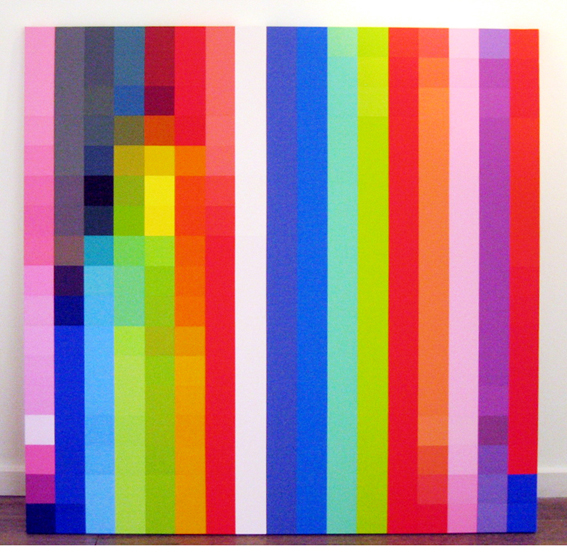 ROBERT OWEN     Spectrum Analysis #13  2005 polymer paint on linen  122 x 122 cm