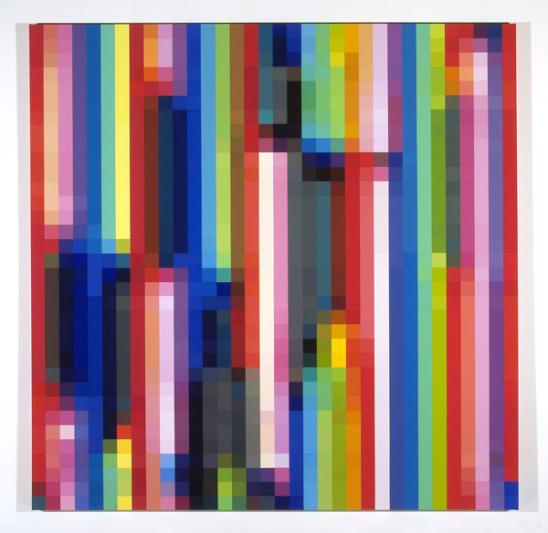 ROBERT OWEN     Spectrum Analysis #4   2003-2004 Synthetic polymer paint on linen  195 x 195 cm