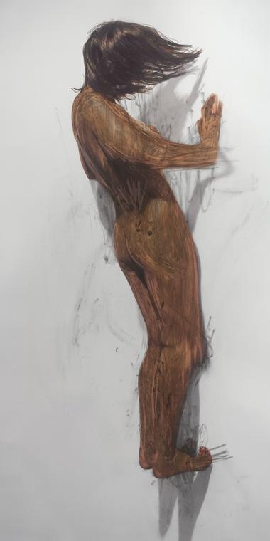 JULIE RRAP    Body Rub 3     2006   archival print on watercolour paper edition of 5 100 x 199 cm