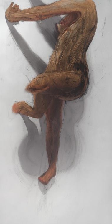 JULIE RRAP   Body Rub 1   2006 archival print on watercolour paper edition of 5 100 x 199 cm