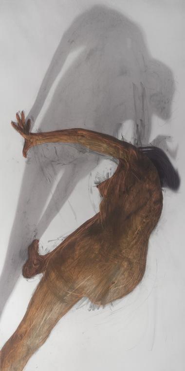 JULIE RRAP    Body Rub 4     2006   archival print on watercolour paper edition 2/5 100 x 199 cm