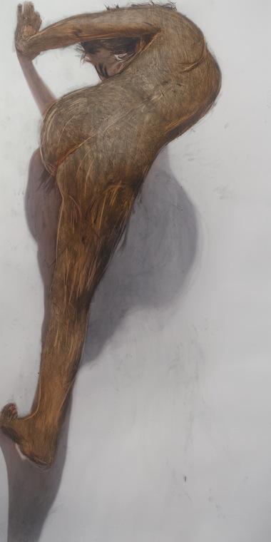 JULIE RRAP    Body Rub 5     2006   archival print on watercolour paper edition of 5 100 x 199 cm