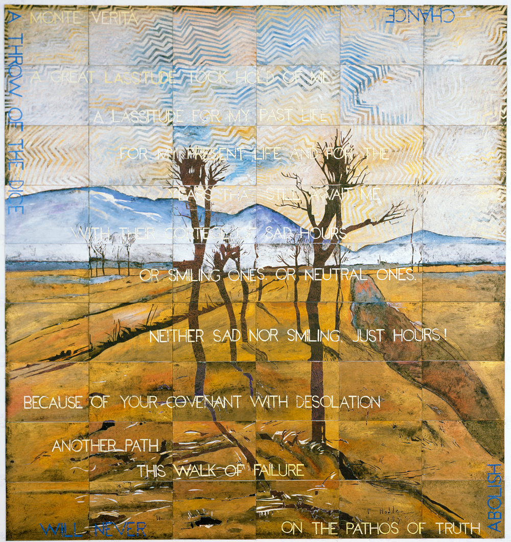 IMANTS TILLERS   Monte Verita  2015 Acrylic, gouache on 54 canvas boards 228 x 210 cm