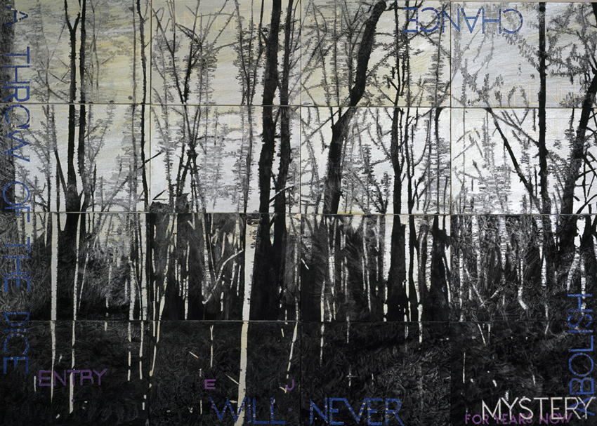 IMANTS TILLERS     Nature Speaks: EJ  2013 Acrylic, gouache on 16 canvas boards 101 x 142 cm