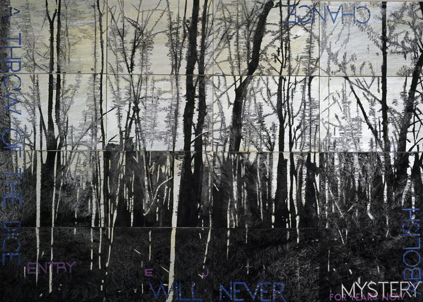 IMANTS TILLERS     Nature Speaks: EJ  2013 Acrylic, gouache on 16 canvas boards 101 x 142 cm