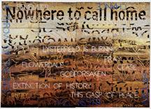 IMANTS TILLERS     Nature Speaks: BP  2009 Acrylic, gouache on 16 canvasboards 142 x 120 cm
