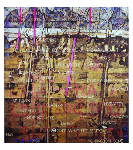 IMANTS TILLERS    Blossoming 15  2006 acrylic, gouache on 54 canvasboards 214 x 229 cm