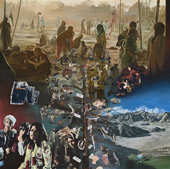LYNDELL BROWN CHARLES GREEN     Ark  2008 Oil on linen 167.6 x 167.6 cm