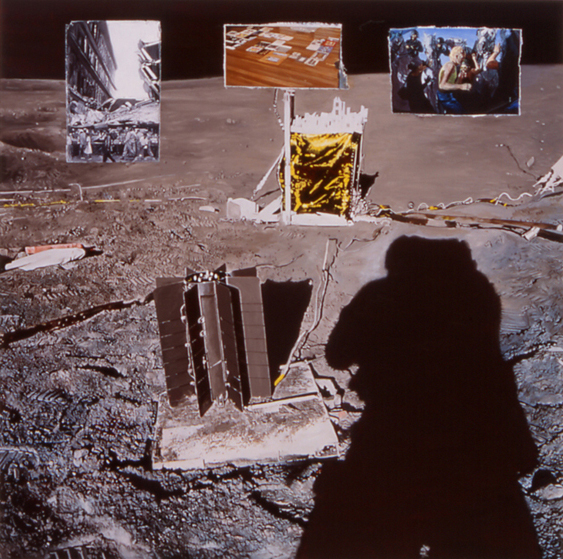 LYNDELL BROWN CHARLES GREEN     History Painting  2004 Lightjet print on duraclear film 104 x 104 cm
