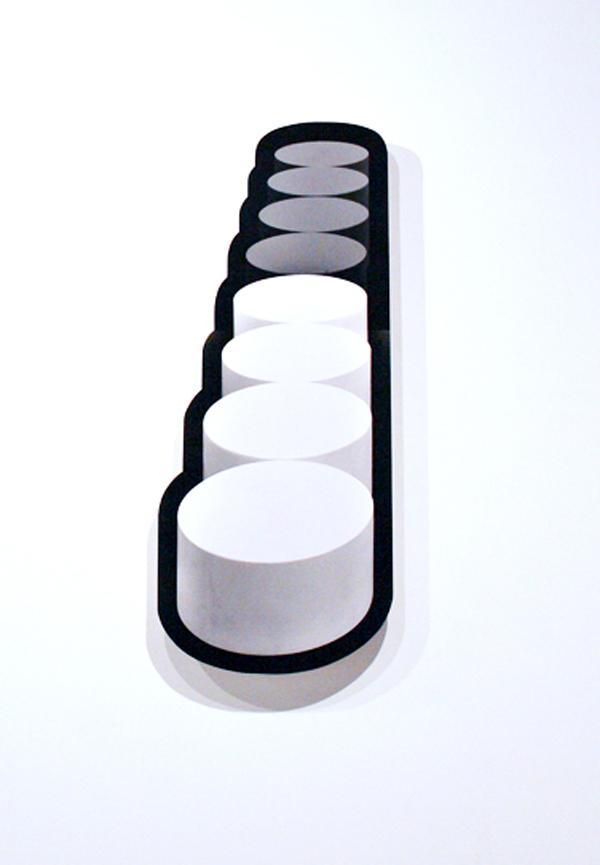 JACKY REDGATE     STONEHENGE #4  2008 Silver gelatin photograph on diasek, lexan brackets edition of 5 145 x 67 cm