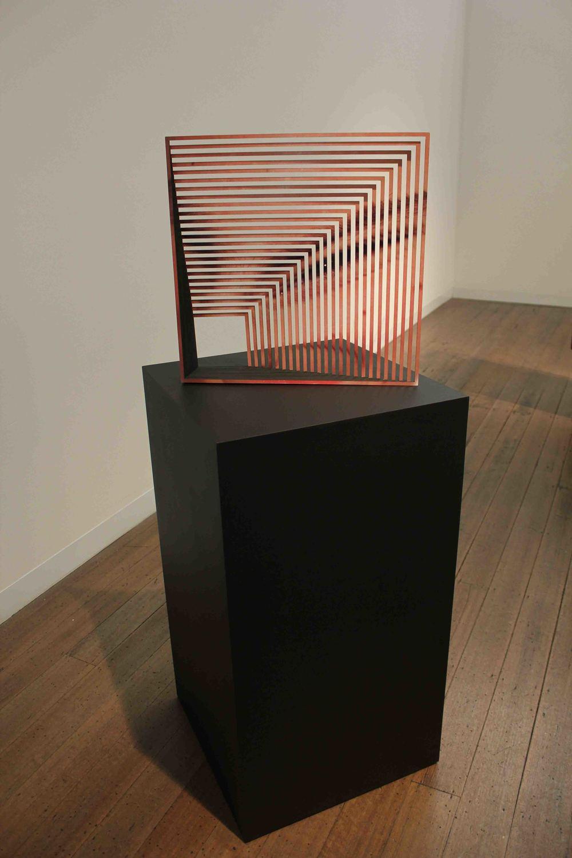 JUSTINE KHAMARA    Whether I am Asleep or Awake #4  2015 Laser cut UV print on plywood, mdf, paint 45 x 45 x 9.5 cm